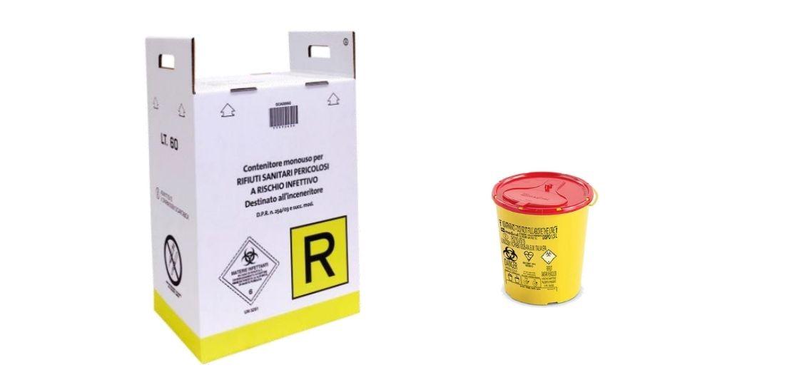 Contenitori smaltimento rifiuti infetti - Halipack e Halibox - Aziende Protette