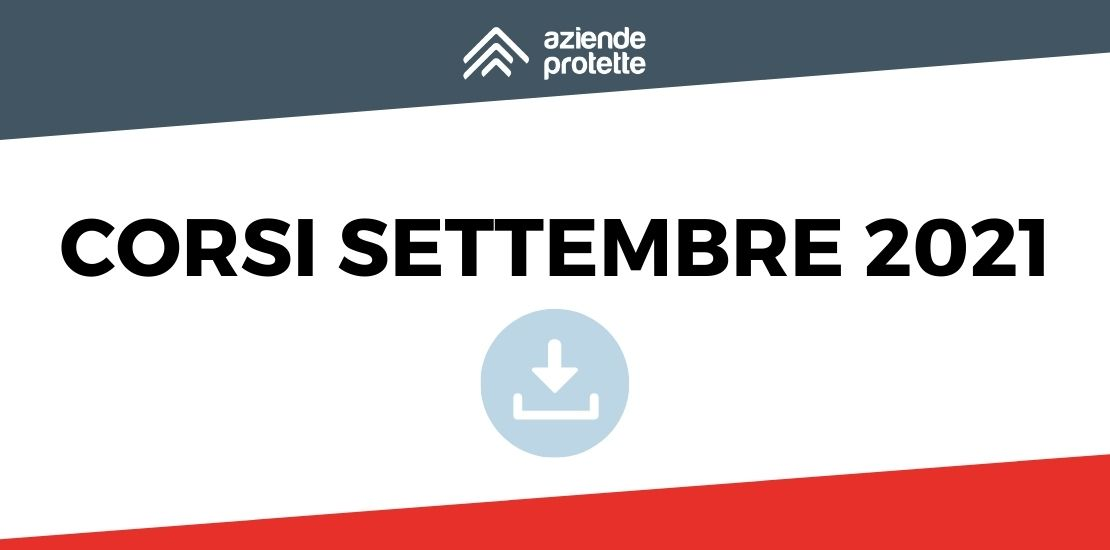 Calendario settembre 2021 - Aziende Protette